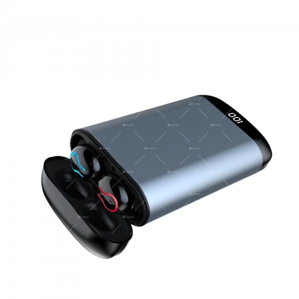 Безжични Bluetooth слушалки с метална кутия за зареждане Q66 TWS - EP7 7