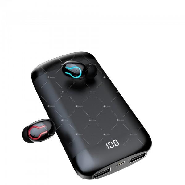 Безжични Bluetooth слушалки с метална кутия за зареждане Q66 TWS - EP7 9