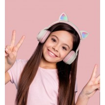 Безжични bluetooth слушалки с котешки уши за деца BT-023C - EP9