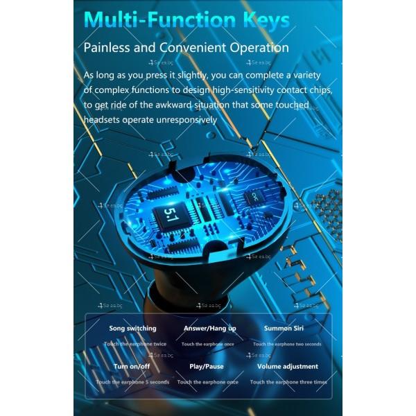 Безжични слушалки със зареждаща кутия с LED дисплей YW-А13 - EP13 2