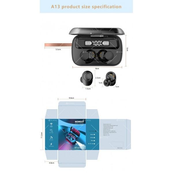 Безжични слушалки със зареждаща кутия с LED дисплей YW-А13 - EP13 5