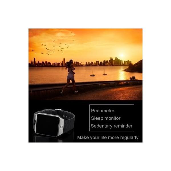 Мобилен телефон часовник 1 сим картa тъч скрин камера bluetooth радио SMW1 6