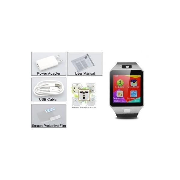 Мобилен телефон часовник 1 сим картa тъч скрин камера bluetooth радио SMW1 7