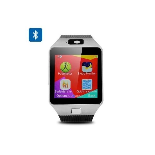 Мобилен телефон часовник 1 сим картa тъч скрин камера bluetooth радио SMW1 8