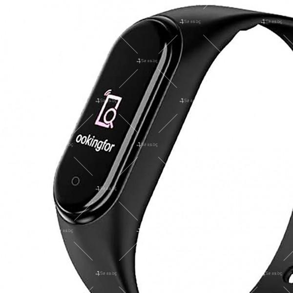 Интелигентна фитнес гривна в черен цвят 5 PRO 6