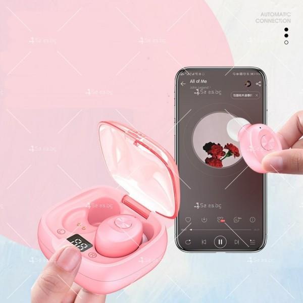 Спортни безжични мини bluetooth слушалки 5.0 XG8 TWS с цифров дисплей - EP6 4