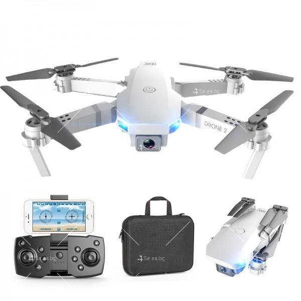 Сгъваем мини дрон с дистанционно управление 4К HD Е59 7