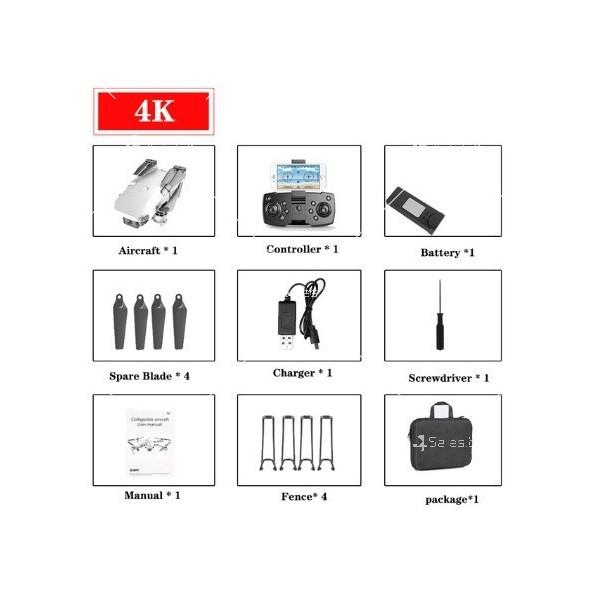 Сгъваем мини дрон с дистанционно управление 4К HD Е59 4