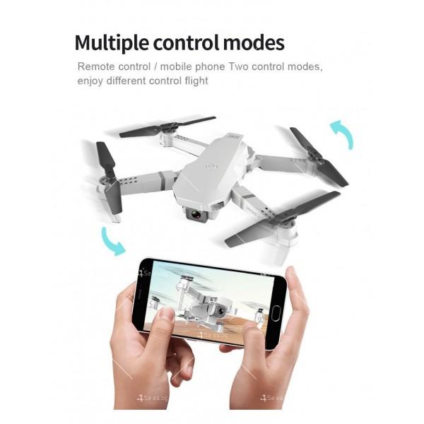 Сгъваем мини дрон с дистанционно управление 4К HD Е59 9