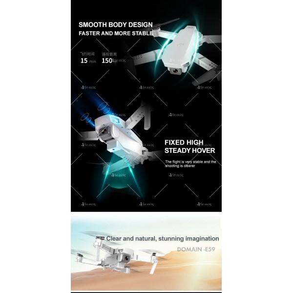 Сгъваем мини дрон с дистанционно управление 4К HD Е59 10