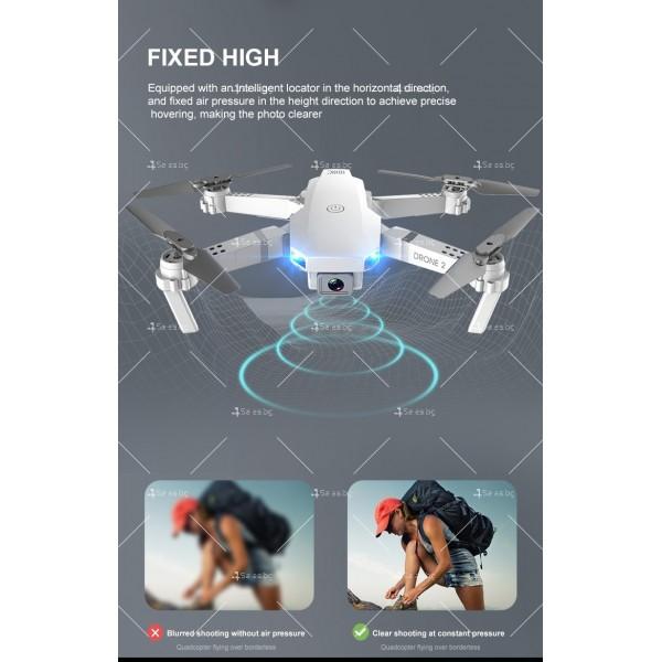 Сгъваем мини дрон с дистанционно управление 4К HD Е59 12
