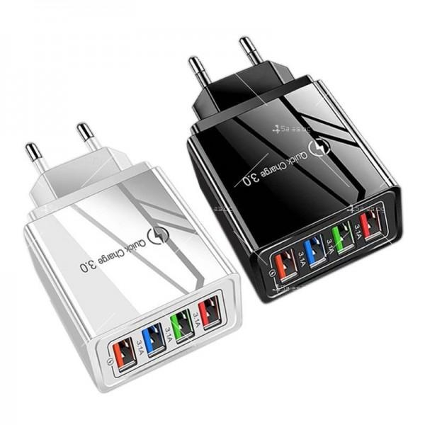 Устройство за скоростно зареждане с 4 USB порта Quick Charge 3.0 - CA24 2