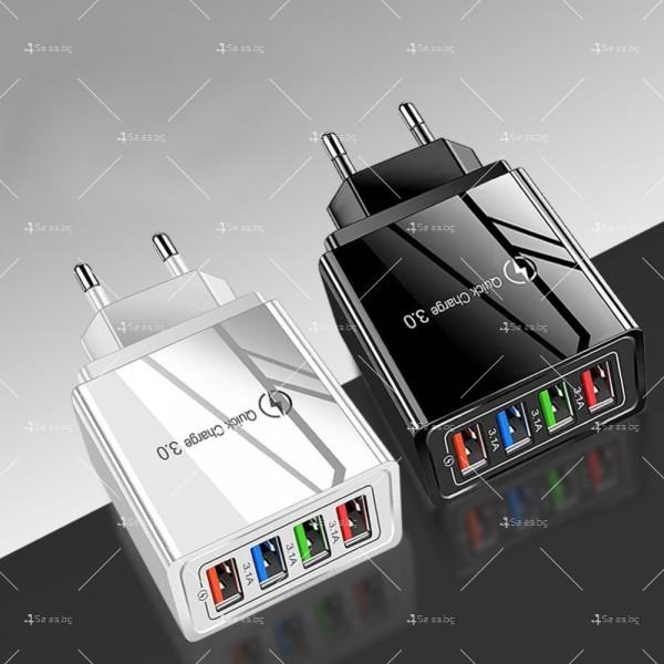 Устройство за скоростно зареждане с 4 USB порта Quick Charge 3.0 - CA24 1