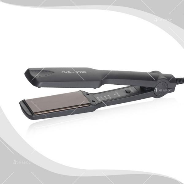 Преса за изправяне на коса с турмалинови керамични плочи и 4 степени TV668 1