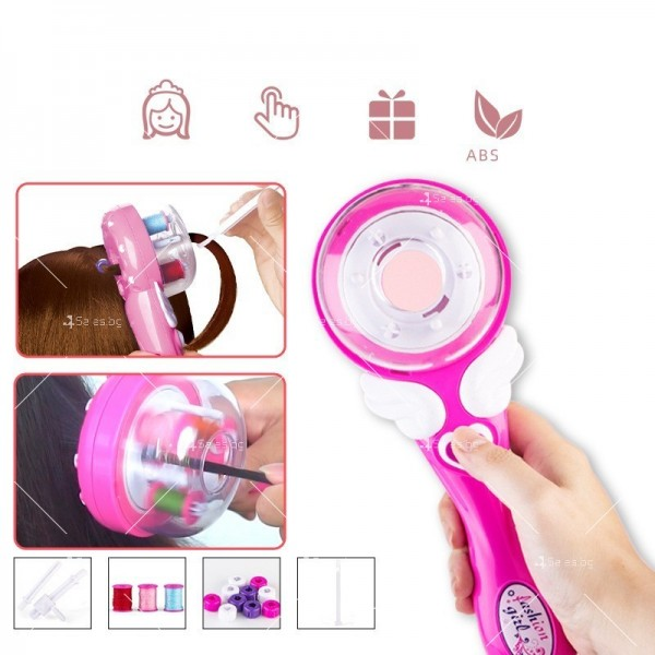 Детски уред за вплитане на плитки и декорации в косата TV681-1 3