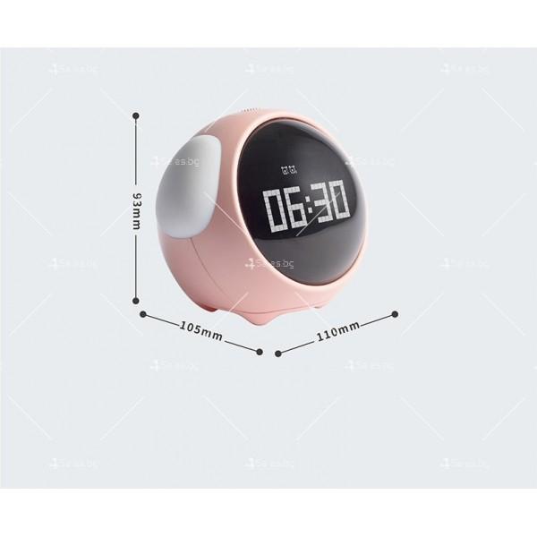 Емоджи часовник-аларма с голям цифров дисплей TV682 7
