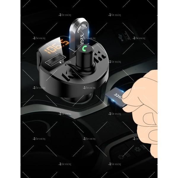 Bluetooth трасмитер за кола със семпъл и изчистен дизайн HF38 5