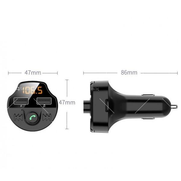 Bluetooth трасмитер за кола със семпъл и изчистен дизайн HF38 7