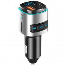 Bluetooth/FM трансмитер BC41 за автомобил с цветна LED светлина HF56