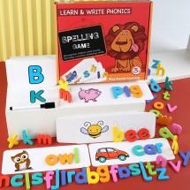 Дървена образователна игра за най-малките на английски език WJ4