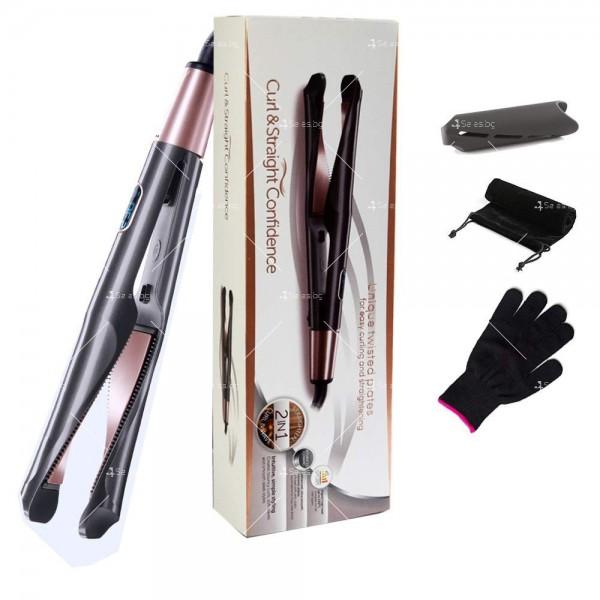 Преса 2 в 1 за къдрeне и изправяне на коса с LCD дисплей TV671 5