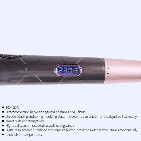 Преса 2 в 1 за къдрeне и изправяне на коса с LCD дисплей TV671 11