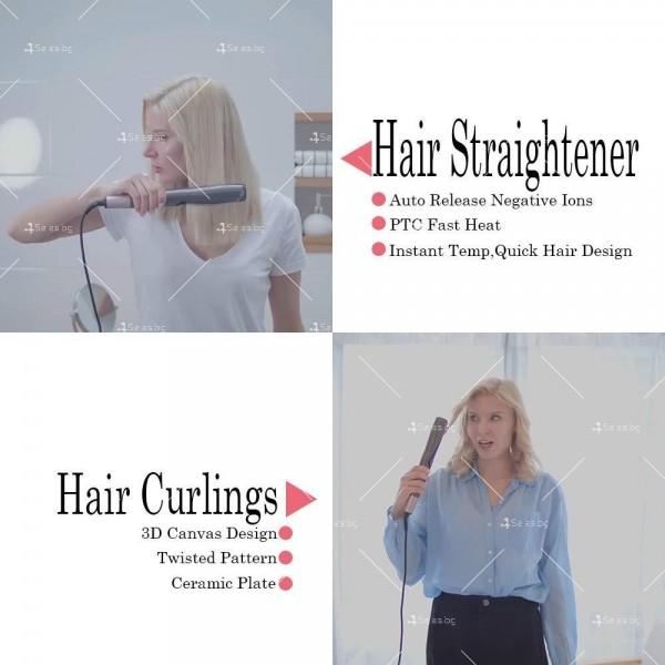 Преса 2 в 1 за къдрeне и изправяне на коса с LCD дисплей TV671 15