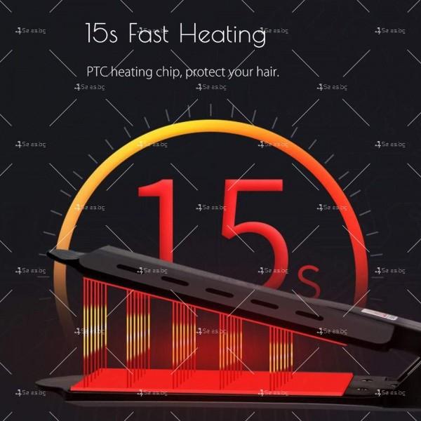 Професионална турмалинова преса за коса с йони, за всички типове коса TV672 6