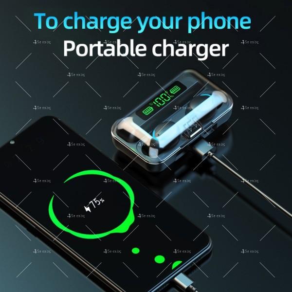 Безжични слушалки със зареждаща кутия с LED дисплей YW-А13 - EP13 15