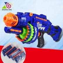 Детски голям ръчен полуавтоматичен пистолет с меки коршуми WJ14