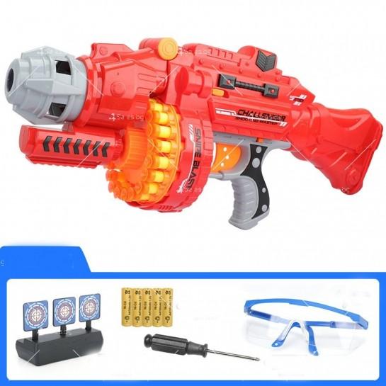Голям детски ръчен пистолет с меки куршуми стрели - WJ15
