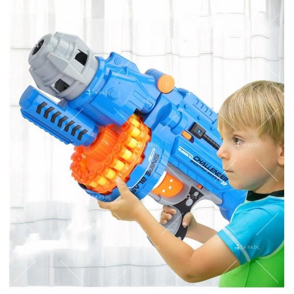 Голям детски ръчен пистолет с меки куршуми стрели - WJ15 1