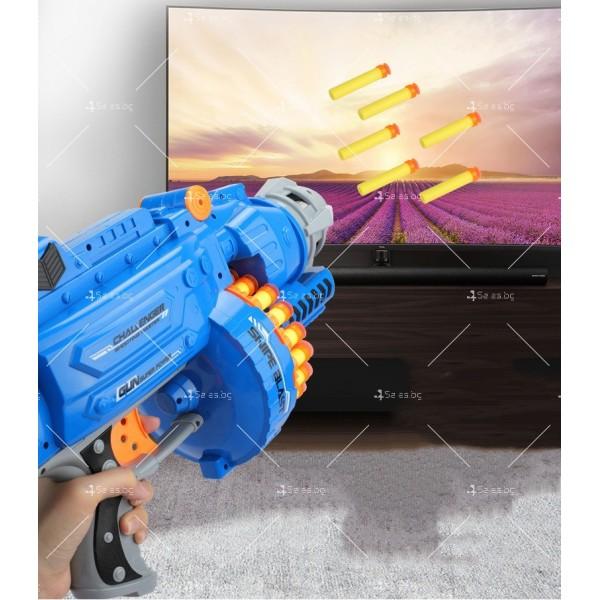 Голям детски ръчен пистолет с меки куршуми стрели - WJ15 7