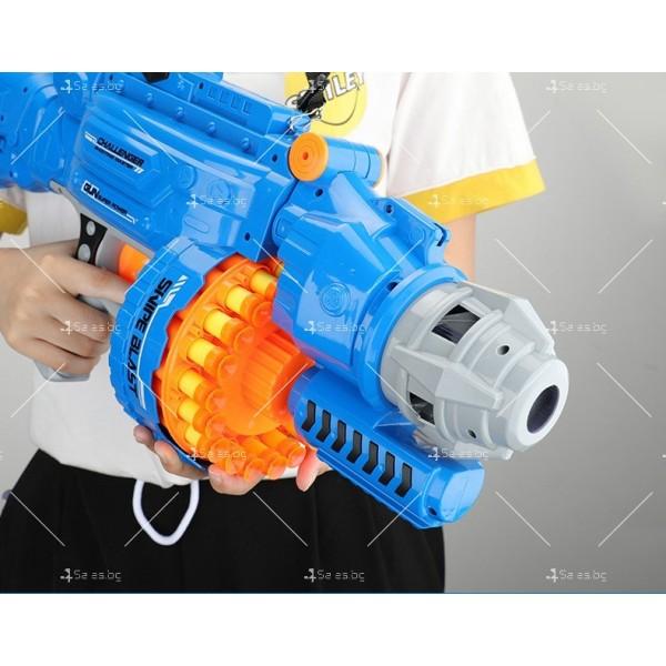 Голям детски ръчен пистолет с меки куршуми стрели - WJ15 11