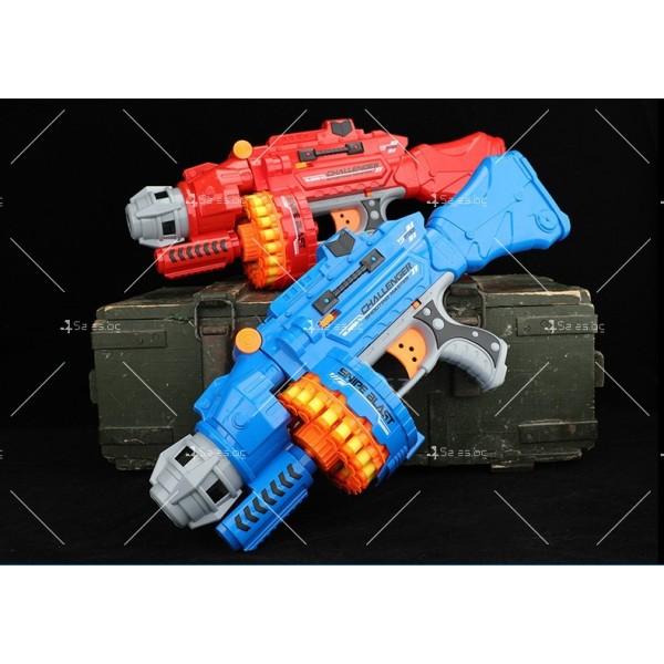 Голям детски ръчен пистолет с меки куршуми стрели - WJ15 2