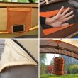 Палатка с автоматичен механизъм на сглобяване предназначена до 4 души - PALAT8 3
