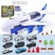 Комплект играчка самолет с писта за колички + 8 колички - WJ6 1