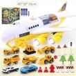 Комплект играчка самолет с писта за колички + 8 колички - WJ6 3
