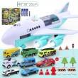 Комплект играчка самолет с писта за колички + 8 колички - WJ6 4