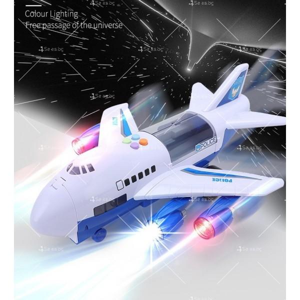 Комплект играчка самолет с писта за колички + 8 колички - WJ6 9