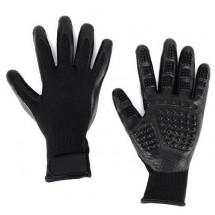 Меки каучукови ръкавици за разресване на домашни любимци