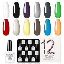 Комплект от 12 броя гел лакове за нокти различни варианти - ZJY108