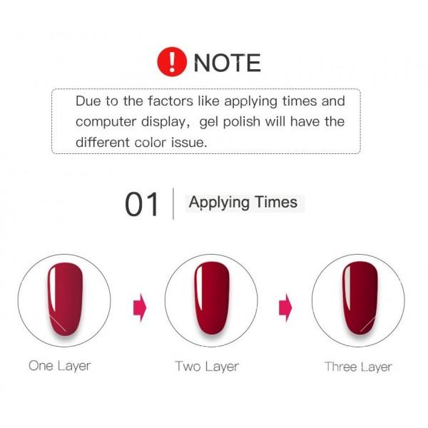 Политемпературен лак за нокти с ефект цветни пукнатини 6 броя ROSALIND - ZJY110 4