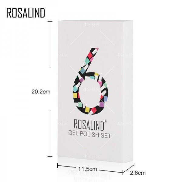 Политемпературен лак за нокти с ефект цветни пукнатини 6 броя ROSALIND - ZJY110 8