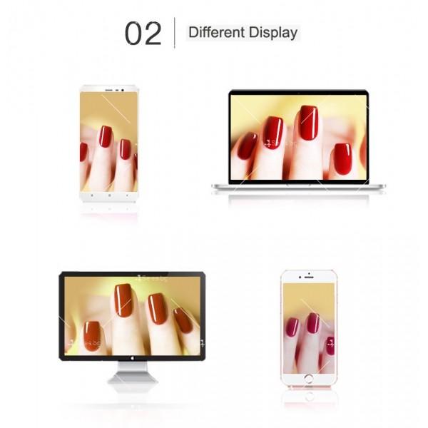 Политемпературен лак за нокти с ефект цветни пукнатини 6 броя ROSALIND - ZJY110 10