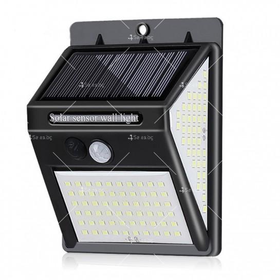 Соларна LED лампа за стена на открито със 150 диода - H LED24