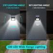 Соларна LED лампа за стена на открито със 150 диода - H LED24 5