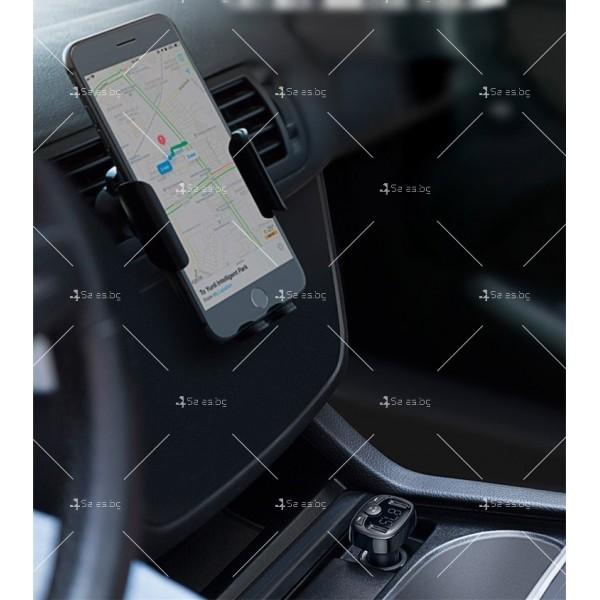 Автомобилно Bluetooth и MP3 fast charging зарядно устройство Baseus T Cat - HF60 3