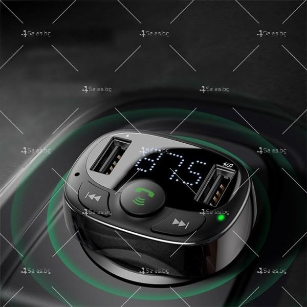 Автомобилно Bluetooth и MP3 fast charging зарядно устройство Baseus T Cat - HF60