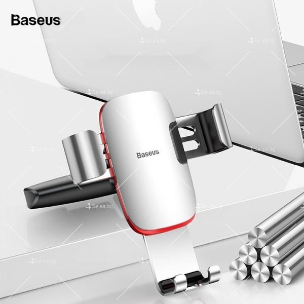 Метална стойка за телефон за кола с 360 градуса въртене Baseus - ST22 4